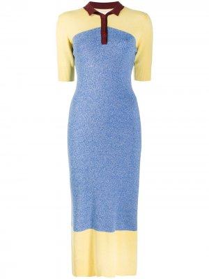 Платье в стиле колор-блок Chinti and Parker. Цвет: синий