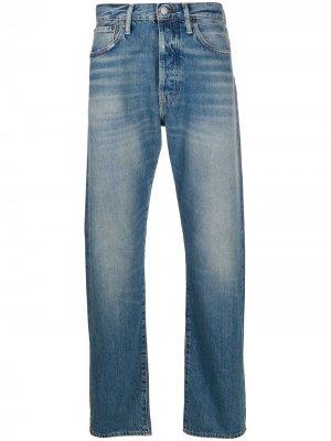 Прямые джинсы 1996 с эффектом потертости Acne Studios. Цвет: синий