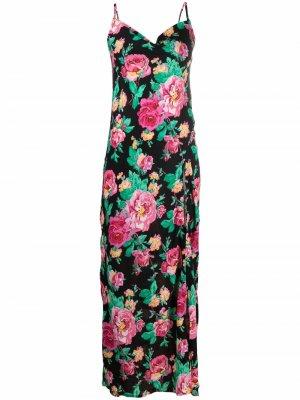 Платье макси с цветочным принтом For Love And Lemons. Цвет: черный