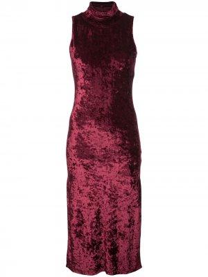 Платье без рукавов с воротником-стойкой Caroline Constas. Цвет: красный