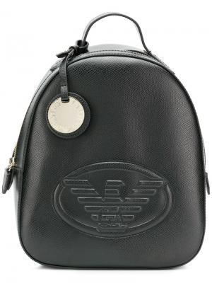 Embossed logo backpack Emporio Armani. Цвет: черный