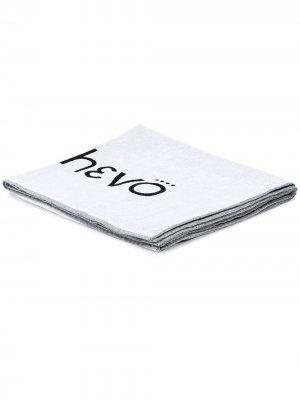 Пляжное полотенце с логотипом Hevo. Цвет: белый