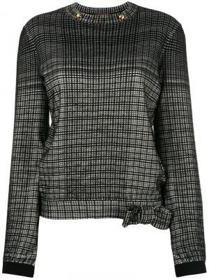 Блузка с длинным рукавом Louis Vuitton Vintage. Цвет: черный