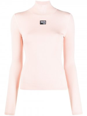 Приталенная водолазка alexanderwang.t. Цвет: розовый