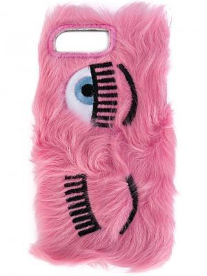 Чехол Flirting для iPhone 7 Plus Chiara Ferragni. Цвет: розовый