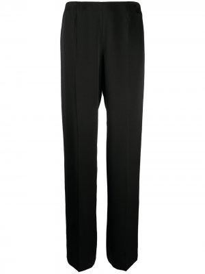 Прямые брюки 2002-го года с завышенной талией Chanel Pre-Owned. Цвет: черный