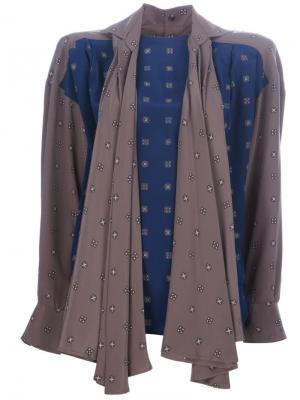 Блузка с контрастными вставками Gianfranco Ferré Pre-Owned. Цвет: синий