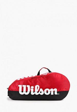 Сумка для теннисных ракеток Wilson. Цвет: красный