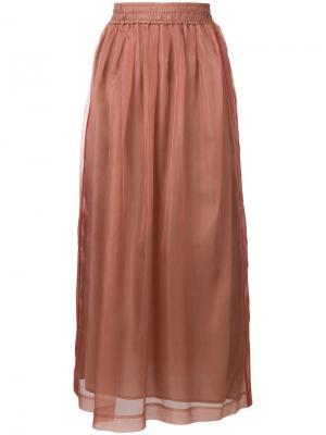 Flared midi skirt Alysi. Цвет: розовый