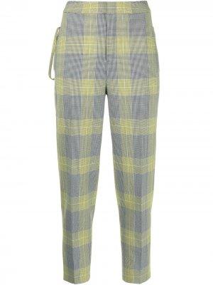 Укороченные брюки в клетку PortsPURE. Цвет: желтый