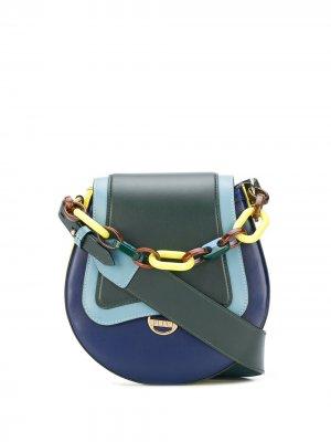 Сумка через плечо с цепочкой Emilio Pucci. Цвет: зеленый
