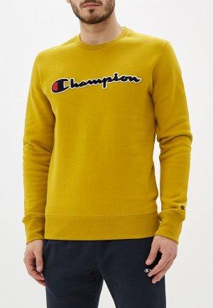 Свитшот Champion. Цвет: желтый