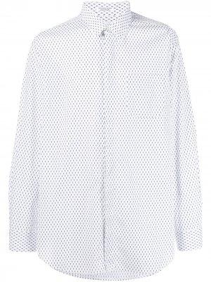 Рубашка с принтом Engineered Garments. Цвет: белый