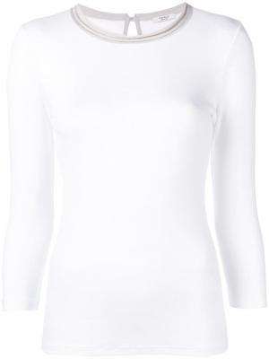Embellished collar sweater Peserico. Цвет: белый