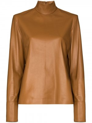 Блузка Bibo Joseph. Цвет: коричневый