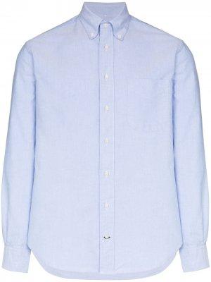 Рубашка с длинными рукавами Gitman Vintage. Цвет: синий