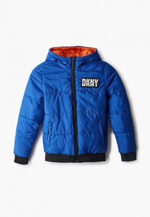 Куртка утепленная DKNY. Цвет: разноцветный