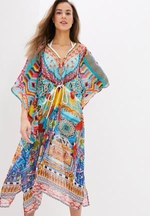 Платье пляжное Indiano Natural. Цвет: разноцветный