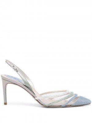 Туфли Vivienne 70 с кристаллами René Caovilla. Цвет: разноцветный