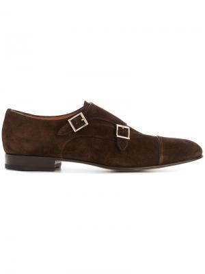 Туфли-монки Vintage Doppel Santoni. Цвет: коричневый