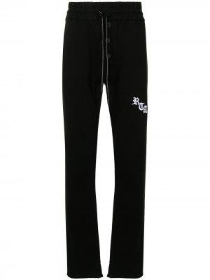 Спортивные брюки с логотипом RtA. Цвет: черный