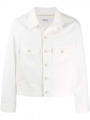 Джинсовая куртка с логотипом AMBUSH. Цвет: белый
