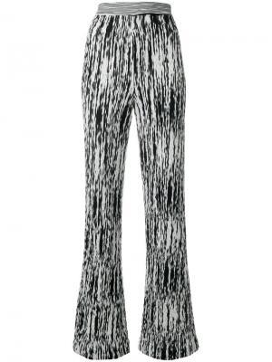 Расклешенные брюки с узором Missoni. Цвет: белый