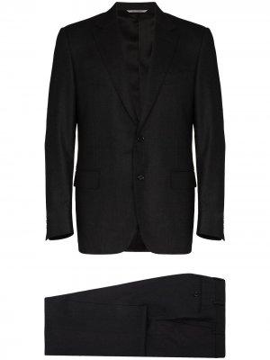 Костюм-двойка с однобортным пиджаком Canali. Цвет: черный