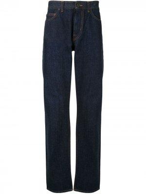 Прямые джинсы с пятью карманами Kent & Curwen. Цвет: синий