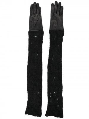 Длинные перчатки Yohji Yamamoto. Цвет: черный
