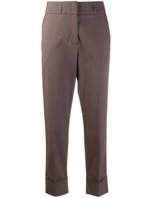 Зауженные брюки с эластичным поясом Peserico. Цвет: коричневый