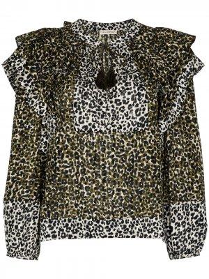 Блузка Carissa с леопардовым принтом Ulla Johnson. Цвет: зеленый