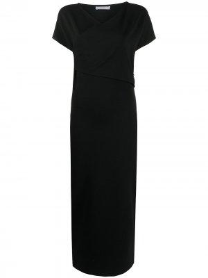 Платье миди с короткими рукавами Dusan. Цвет: черный