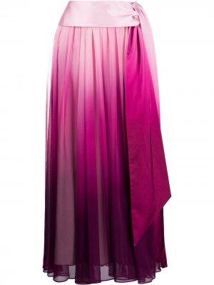 Плиссированная юбка с эффектом омбре Jonathan Simkhai. Цвет: розовый
