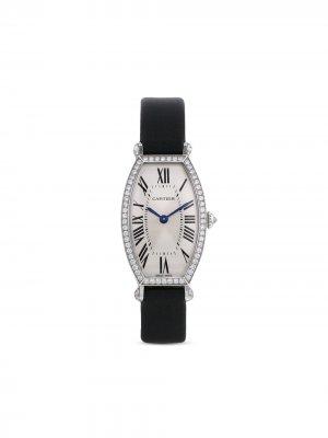 Наручные часы Tonneau pre-owned 21 мм 2008-го года Cartier. Цвет: черный