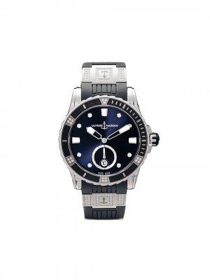 Наручные часы Diver Lady 40 мм Ulysse Nardin. Цвет: голубой
