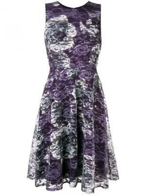 Кружевное короткое платье DKNY. Цвет: фиолетовый