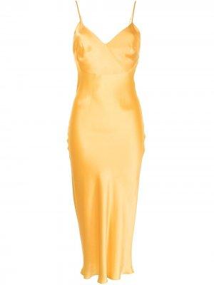 Ночная сорочка миди Sophie Gilda & Pearl. Цвет: золотистый