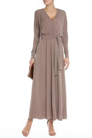 Легкое длинное платье Alina Assi. Цвет: серо-бежевый