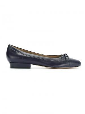 Балетки с круглым носком Sarah Chofakian. Цвет: синий