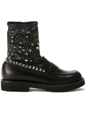 Ботинки с заклепками A.F.Vandevorst. Цвет: чёрный