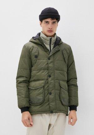Куртка утепленная Rifle. Цвет: зеленый