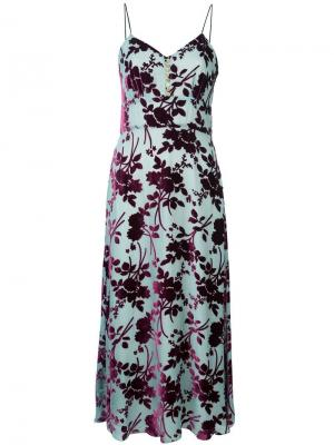 Платье-комбинация Burnout Yigal Azrouel. Цвет: зеленый