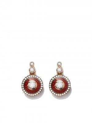 Золотые серьги с бриллиантами Selim Mouzannar. Цвет: розовый