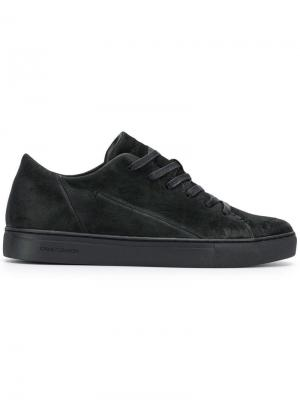 Raw low-top sneakers Crime London. Цвет: черный