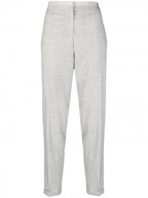 Зауженные брюки Fabiana Filippi. Цвет: серый