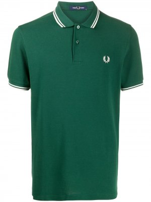 Рубашка поло с вышитым логотипом FRED PERRY. Цвет: зеленый