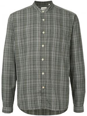 Рубашка в клетку Oliver Spencer. Цвет: зелёный