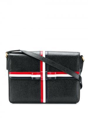 Сумка в форме подарочной коробки Thom Browne. Цвет: черный