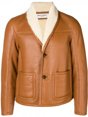 Sheepskin lining jacket Saint Laurent. Цвет: коричневый